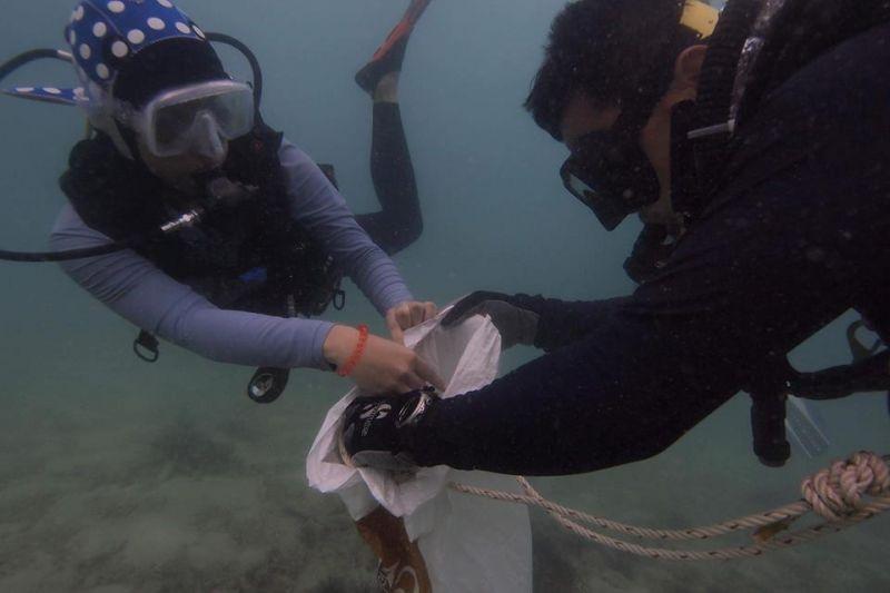 Go-Eco Phuket ขอบคุณจิตอาสาร่วมเก็บขยะใต้ทะเลและบนชายหาดได้มากกว่า 1 ตัน