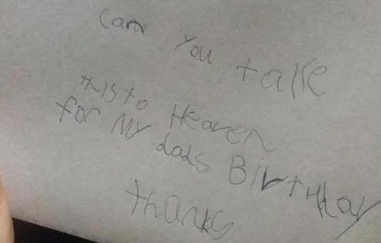 จดหมายที่ถูกส่งไปถึงพ่อบนสวรรค์