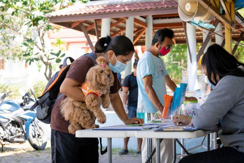 เทศบาลเมืองกะทู้ร่วมซอยด๊อกฉีดวัคซีนป้องกันโรคพิษสุนัขบ้า ประจำปี 2564